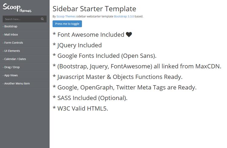 Sidebar - Sidebar Starter Template